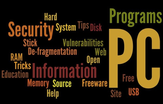 Wordle logo grouping keywords about IT-Security