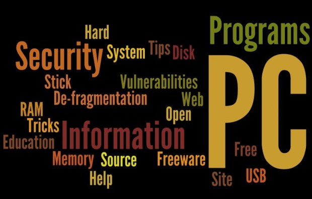 Wordle Logo regrouping keywords for IT-Security