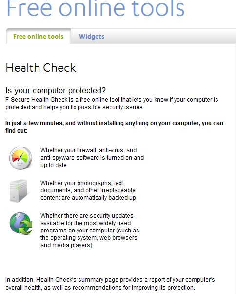 F-Secure HealthCheck